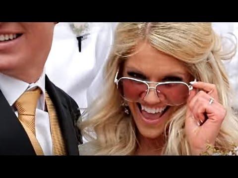 LDS Wedding Video: Mormon Marriage Highlight First Look Salt Lake Temple Utah dresses modest