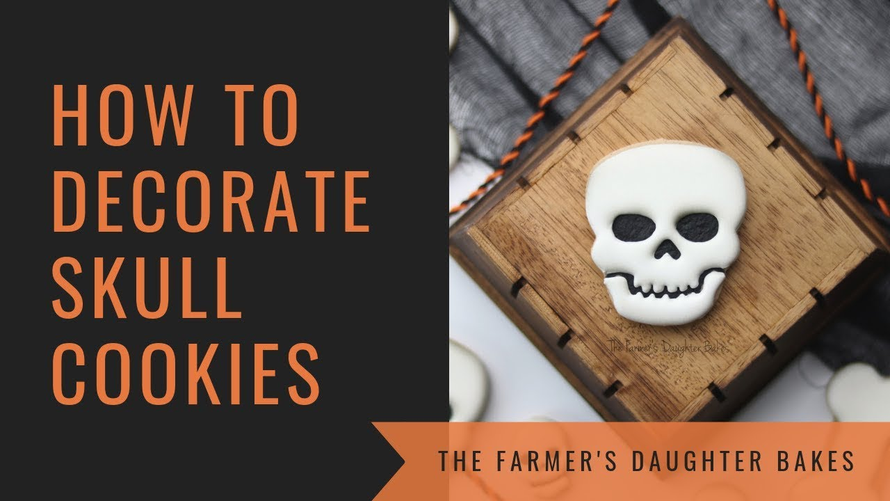 How To Decorate Skull Cookies Youtube