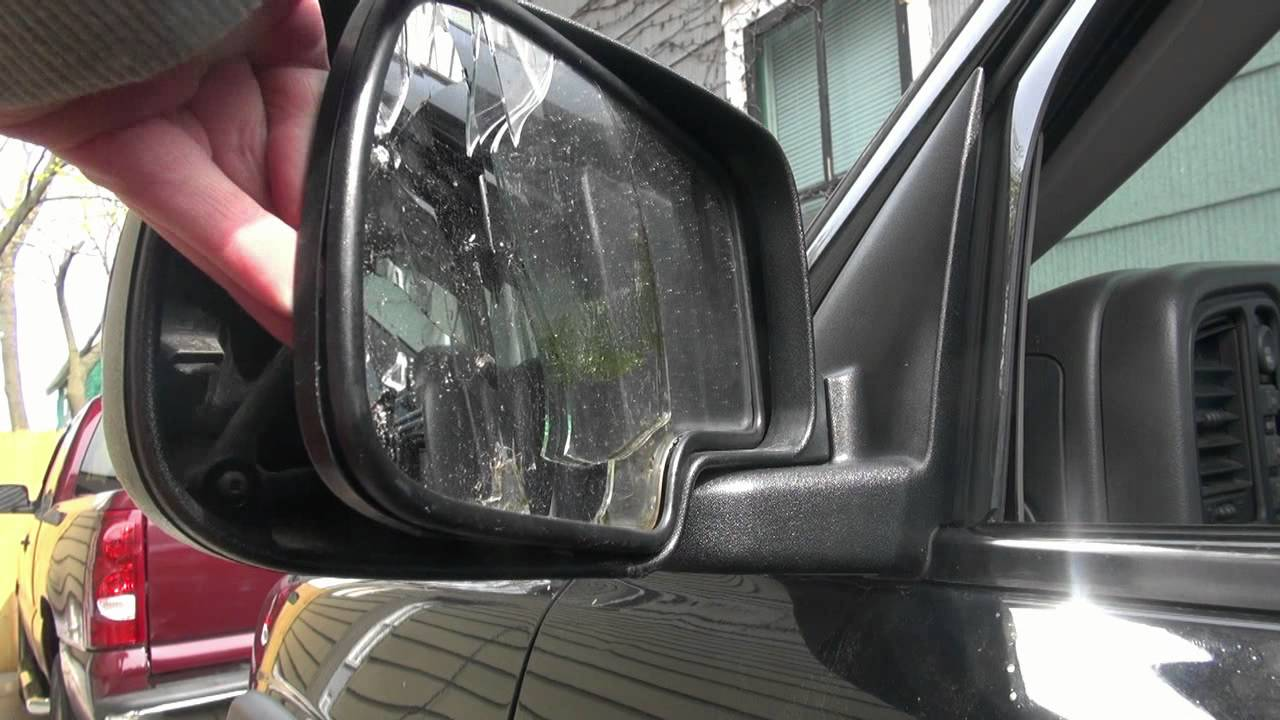 How To Replace The Side Mirror Glass On A 2003 Suburban Youtube