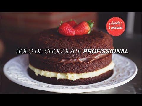 Bolo de Chocolate Profissional (para bolo de aniversário)