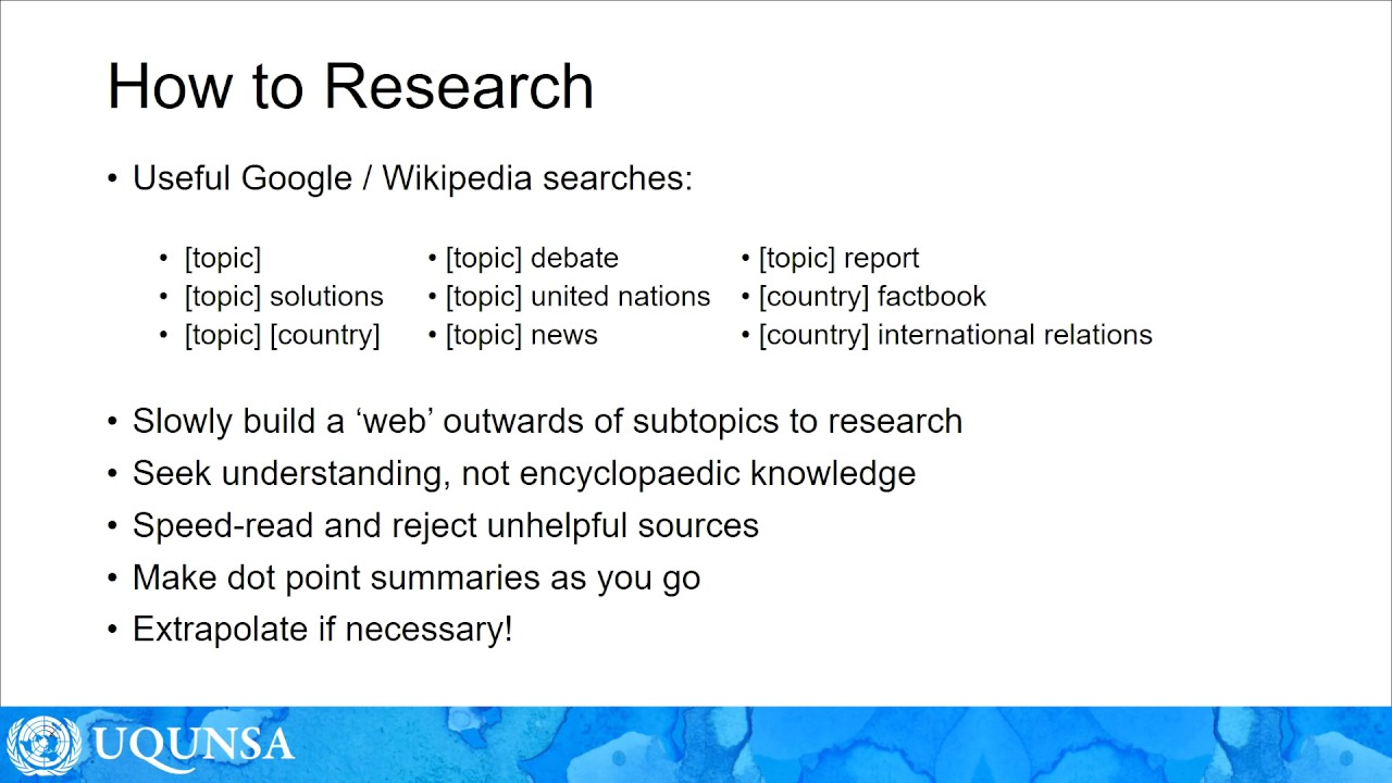 first research paper starters