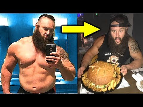 10 Shocking Physiques of WWE Wrestlers Who Eat Junk Food - Braun Strowman Loves Big Hamburgers