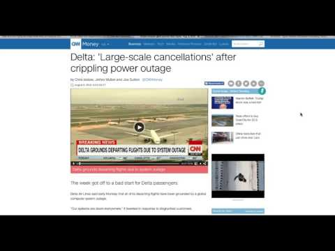 """Delta Airlines Flights Grounded WORLDWIDE! 