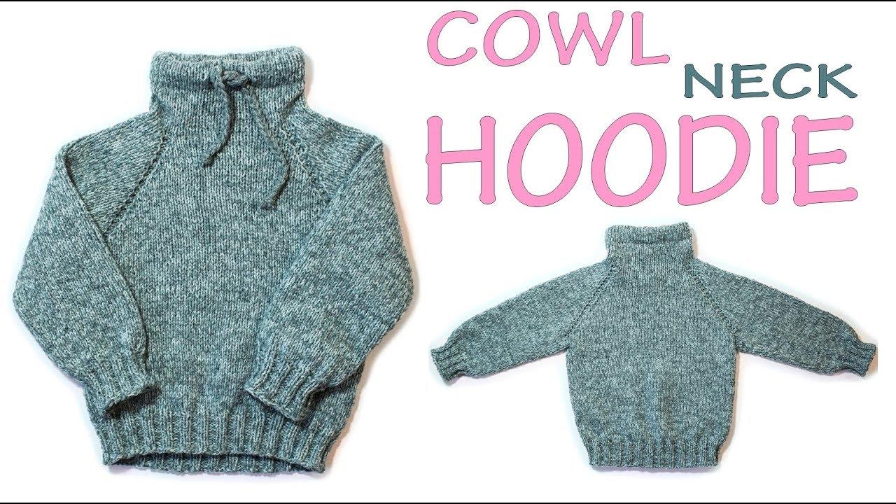 92e229f8d62a Easy Knitting baby sweater Baby hoodie top down Raglan Knit in hem ...