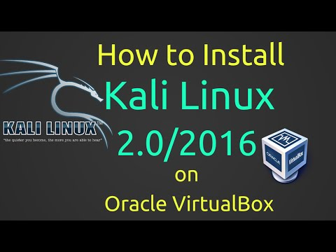 How to Install Kali Linux 2.0/2016 + VBox Guest Additions on VirtualBox [Subtitle] [HD]