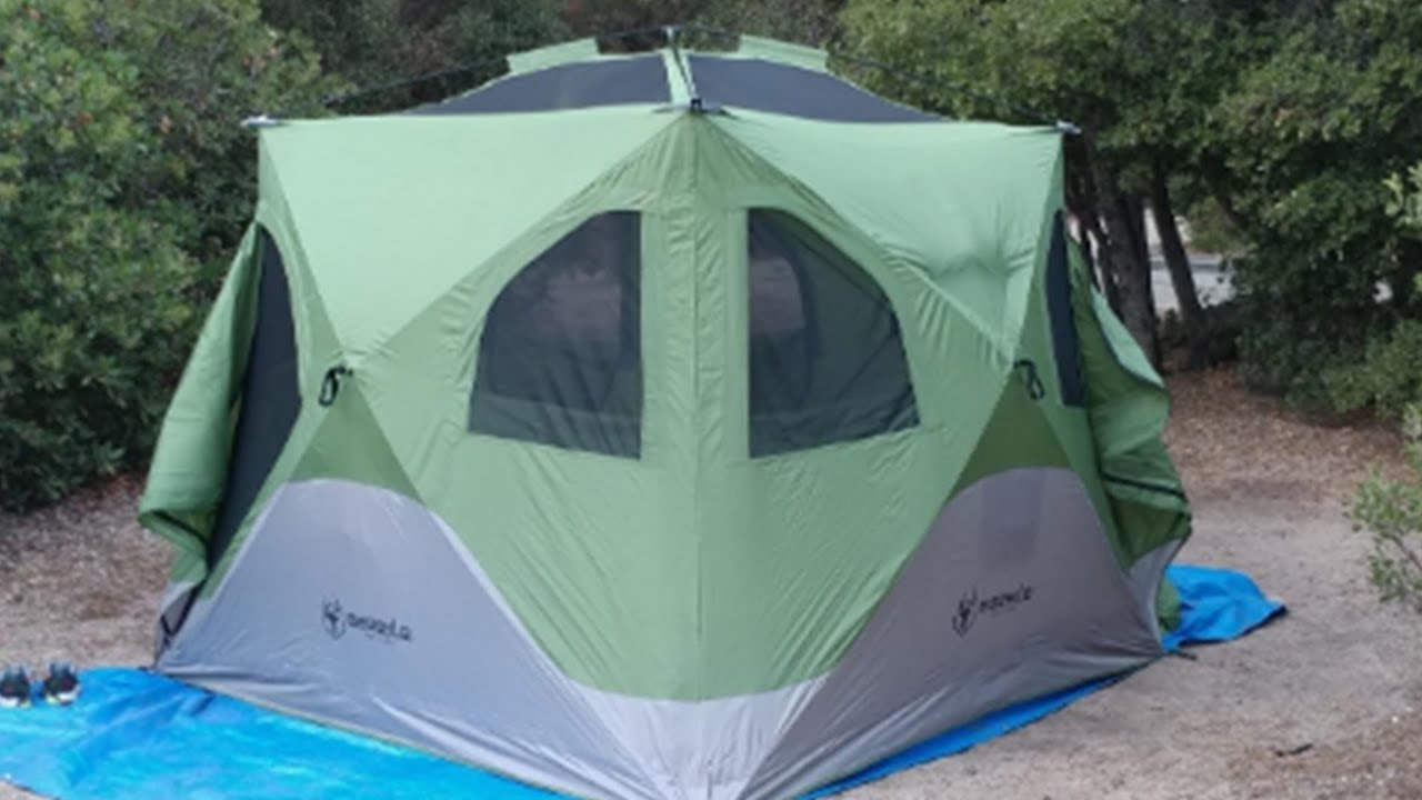 super popular 7a6a0 3ae19 Gazelle 30400 T4 Pop-Up Portable Camping Hub Tent Review 2019