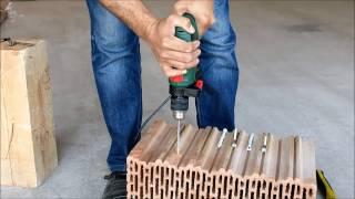 Porotherm / Поротерм керамические блоки сверление и установка дюбелей