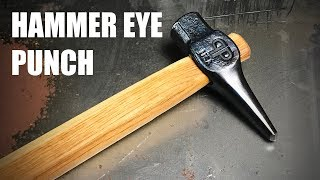 Forging a Hammer Eye Punch - Blacksmithing
