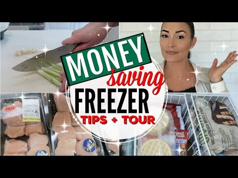 HOW TO SAVE MONEY FREEZING FOOD + GROCERIES ● WHAT'S IN MY FREEZER TOUR + FREEZER STASH