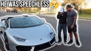 Surprised DAD with LAMBORGHINI!