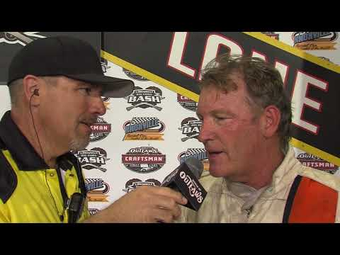 Knoxville Raceway Lynton Jeffrey crash and interview 6-29-18
