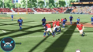 """Video FIRST TIME PLAYING THE NEW PATCH! (Rugby 18 Gameplay """"Japan Vs. British Irish Lions"""" Game 
