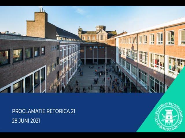 Proclamatie Retorica 2021