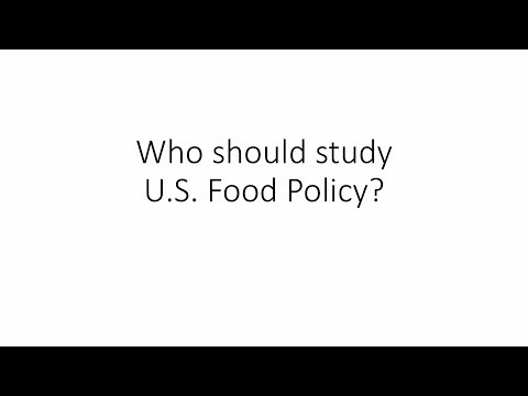 """Who should study U.S. Food Policy?"" by Parke Wilde"