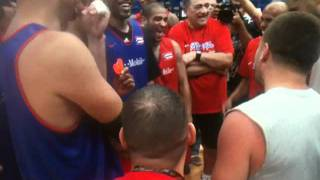 JJ Barea jokes in the Puerto Rico Basketball Team Practice (7/25/11), Boricuas Ballers
