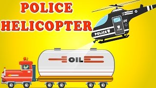 Police Chase with Police Cars Helicopter Bike | Car Garage | Videos For Kids