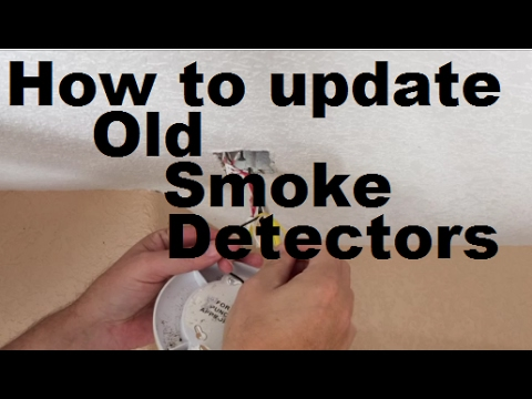 how to replace hardwired smoke detectors