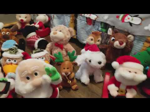 Walker's Animated Christmas Animated Gemmy Toy Collection Walmart Lowes and Home Depot