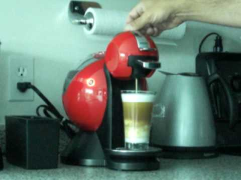 Making a Cappuccino with my Krups Dolce Gusto espresso/coffee machine.