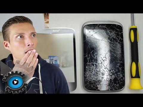 HTC Desire C Glas Digitizer Wechseln Tauschen Reparieren [Deutsch]Glass repair