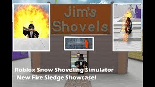 BUYING THE NEW FIRE SLEDGE!! | Roblox Snow Shoveling Simulator | LyPlays