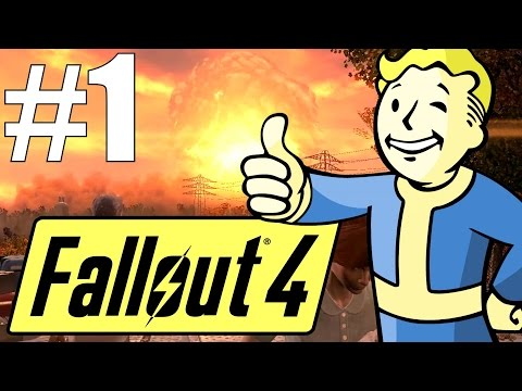 Fallout 4 Lets Play - Part 1 - Sanctuary Hills and Vault 111! (Survival Mode)