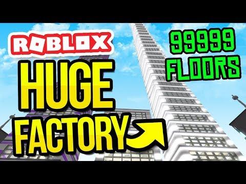 BIGGEST FACTORY EVER... 99999 FLOORS in ROBLOX FACTORY SIMULATOR
