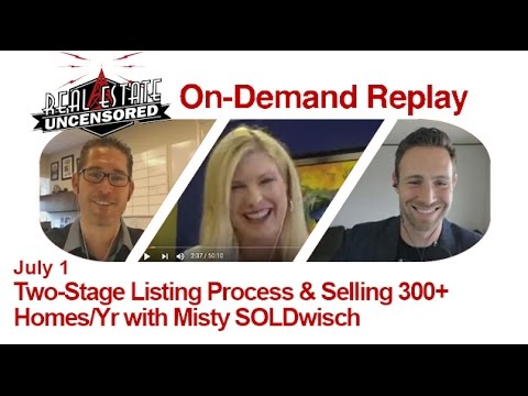 Real Estate Agent Marketing: Two-Stage Listing Process w/Misty SOLDwisch