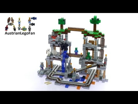 Lego Minecraft 21118 The Mine - Lego Speed Build Review