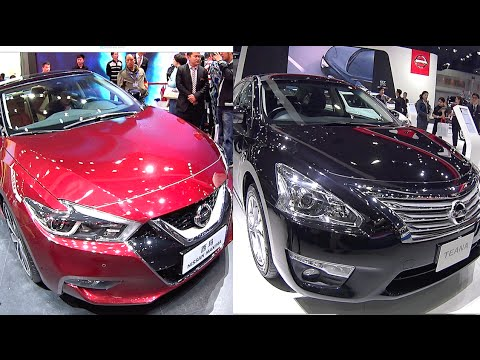 TOP 2016, 2017 Nissan large sedans Nissan Maxima VS Nissan Teana 2016, 2017 model