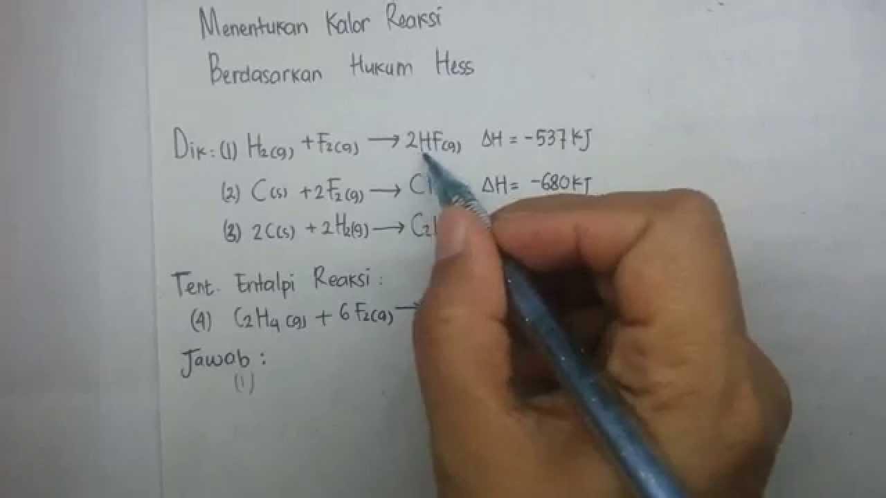 Kalor reaksi hukum hess termokimia3 youtube ccuart Choice Image