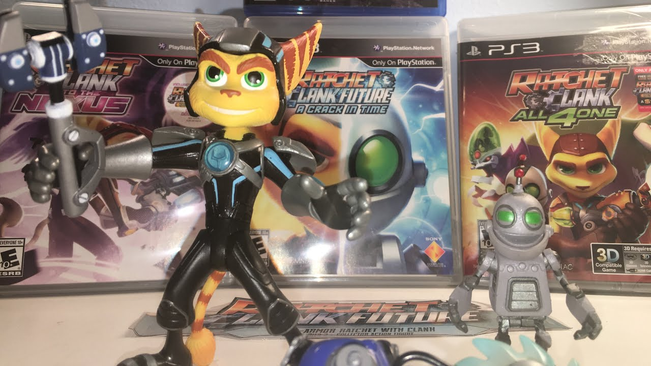 Dc Direct Ratchet And Clank Figure Review Youtube