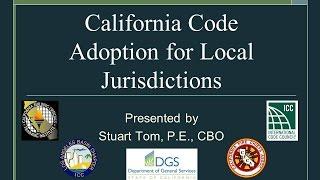 California Codes Adoption Workshop