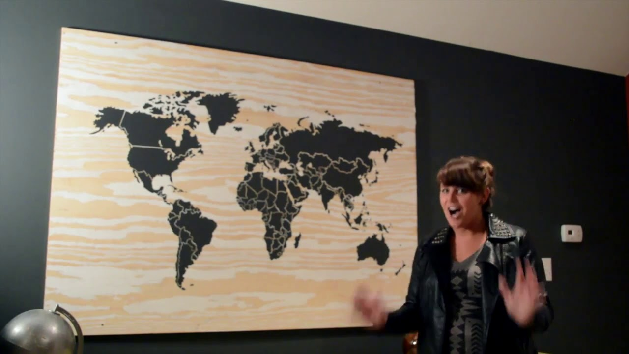 ForRent com DIY Experts: Create a DIY Up Cycled Wooden World Map on