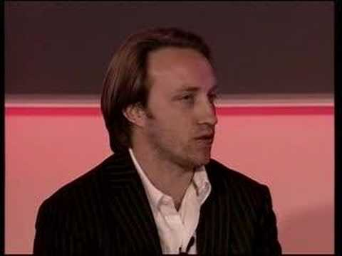 Matthew d'Ancona and Chad Hurley at Zeitgeist Europe 2008