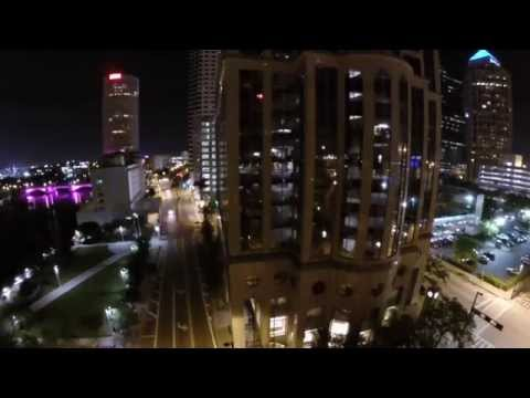 Drone-4-us.com Tampa Florida Night Scene by Michael Basedow Aerial Photography