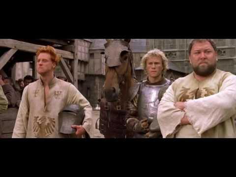 История рыцаря - сцена с письмом