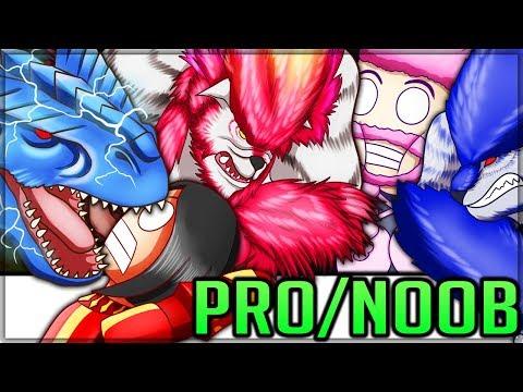 Magnetic Tigrex Dragon Monkeys - Pro And Noob VS Monster Hunter Frontier! (Special) #frontier