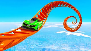 World's Most EXTREME Stunt Race Attempt! - GTA 5 Funny Moments
