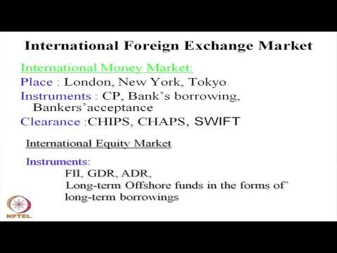 Mod-01 Lec-07 Features of Foreign Exchange Market