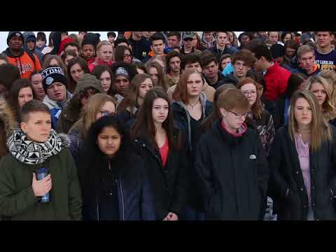 North Muskegon students walkout to protest gun violence