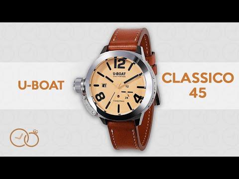 U-Boat Classico 45MM Watch Beige Tungsteno Movelock 8071