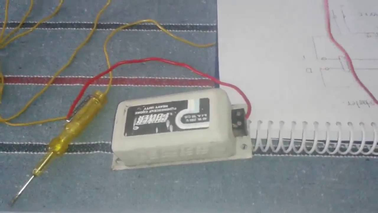 Mains 20 Watt Electronic Ballast Circuit Projects How To Do Tubelight Connection With Electrical Choke Youtube