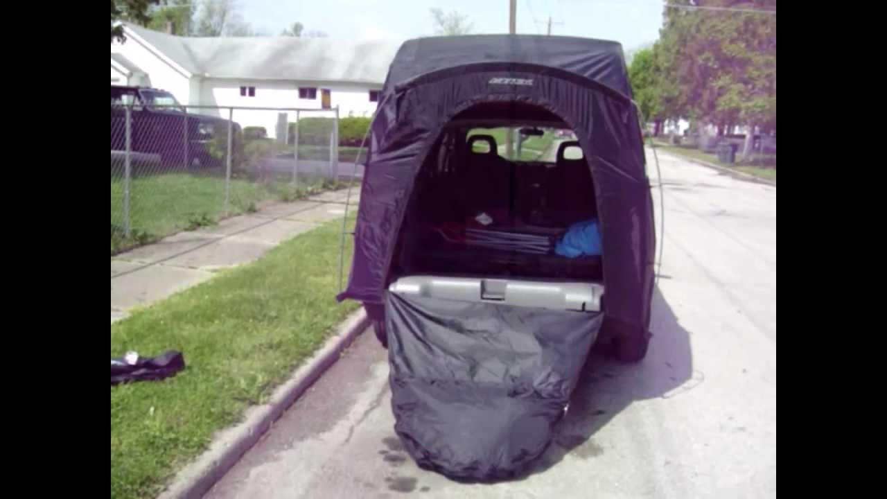 2001 Pontiac Aztek Tent Set up  How to  Instructions