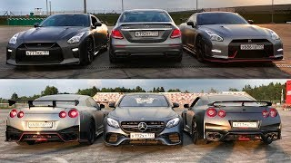 На новом E 63 против двух NISSAN GT-R - приключения на Гонке Звезд! Mercedes-AMG. NISMO.