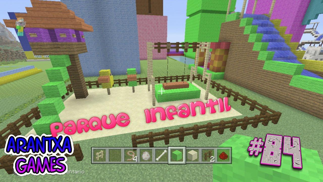 Minecraft modo creativo 84 como hacer un parque infantil for Para desarrollar un parque ajardinado