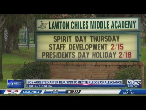 Chris Michaels - Sixth Grader Arrested After Not Standing For Pledge Of Allegiance, Really?