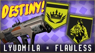 Mark Of The Unbroken & Sum Of All Tears with Lyudmila-D Pulse Rifle! | Destiny Commentary