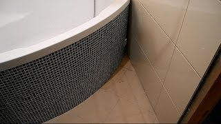 Монтаж угловой,акриловой ванны ч.7(Это заключительная часть по монтажу угловой ванны,изготовлению полукруглого короба-экрана,с скрытым люком..., 2014-12-16T16:20:50.000Z)