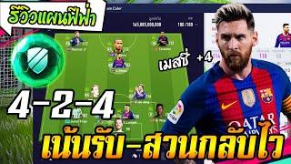 รีวิวแผนฟีฟ่า 4-2-4 รับแน่น-สวนกลับไว เคาะบอลแทงตามช่องเพลินๆ [FIFA Online4]